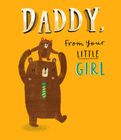 Daddy From Little Girl Father's Day Card