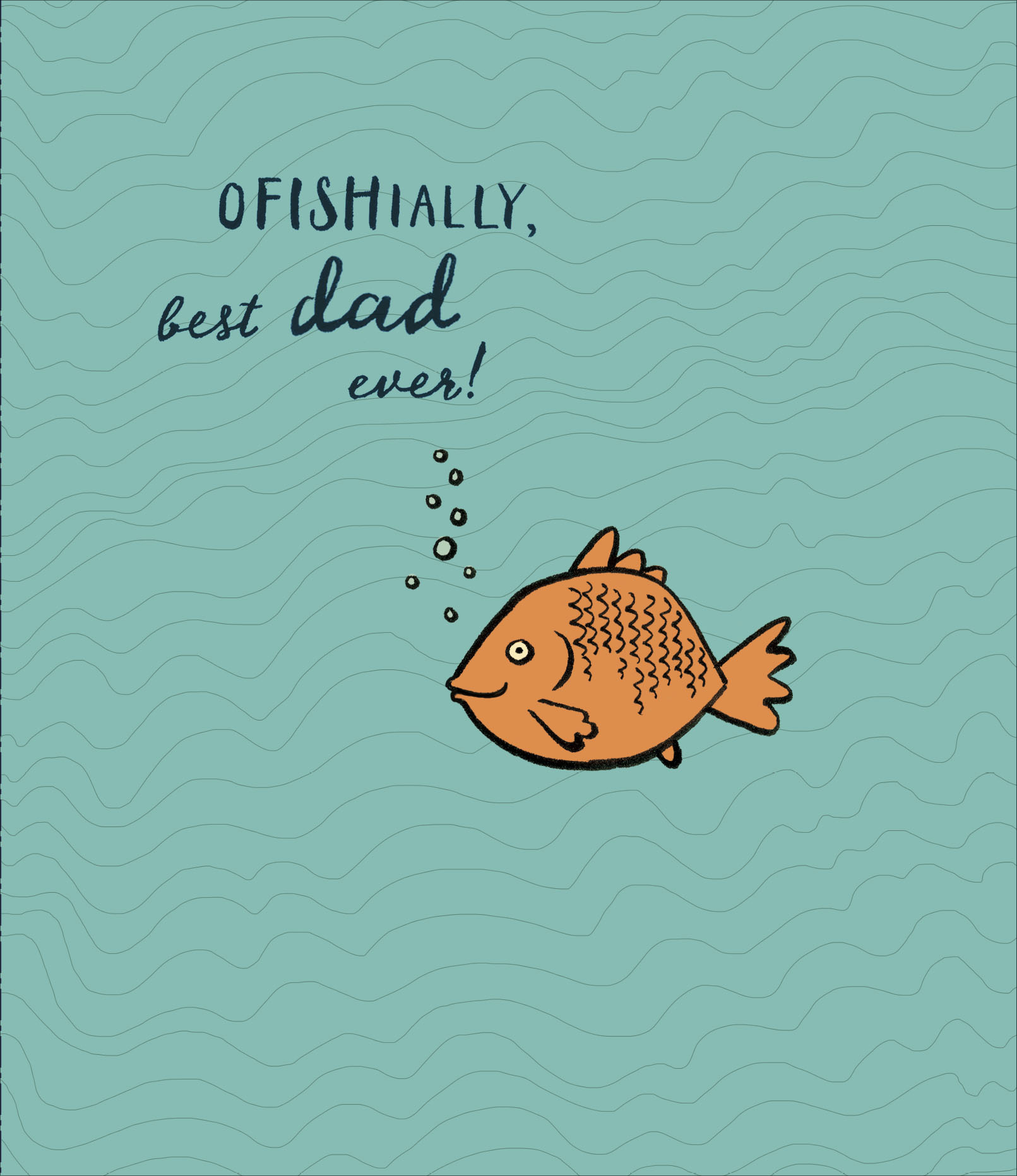 Ofishially Best Dad Ever Happy Fathers Day Card Cards