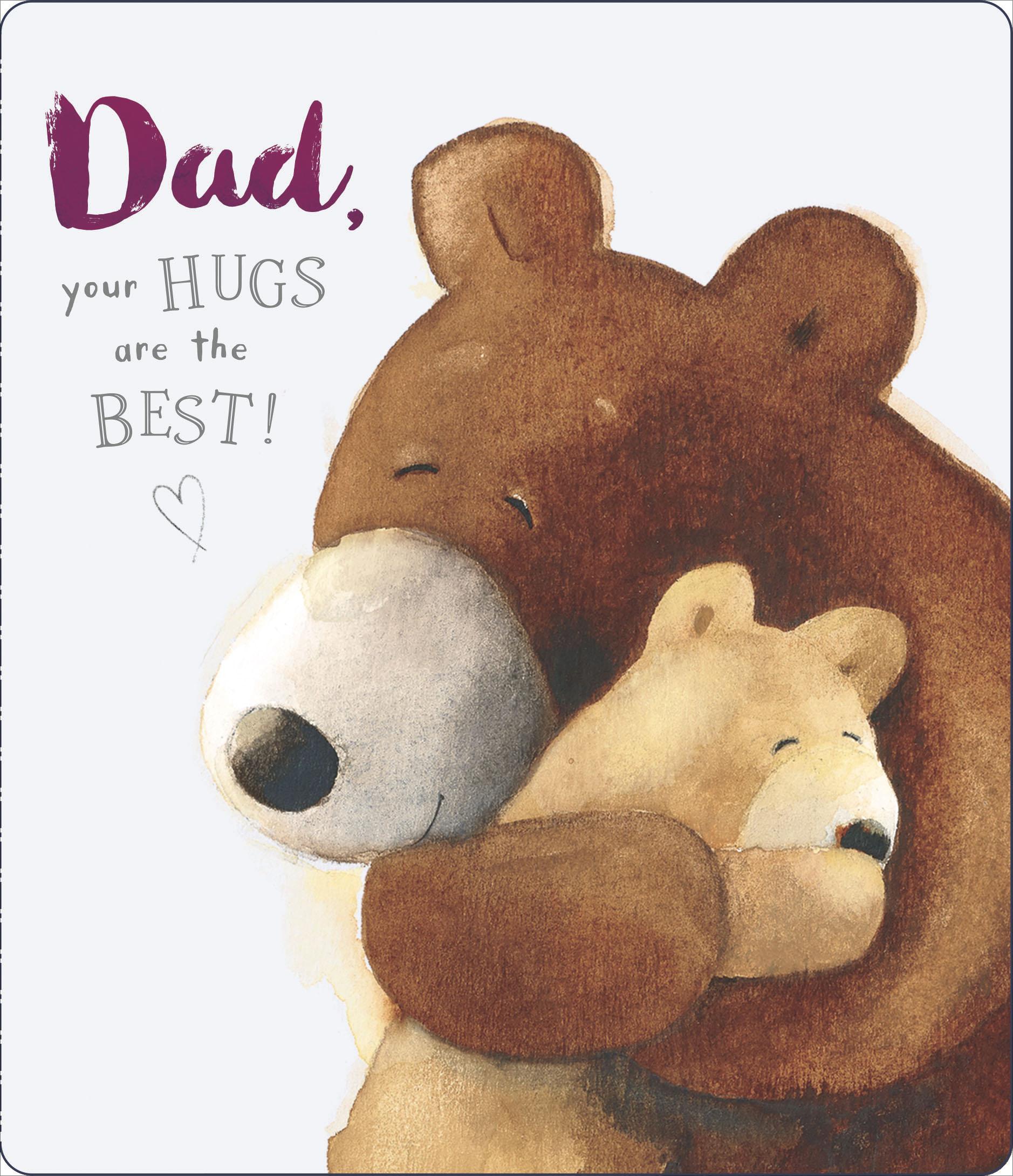 For Dad Grandad Stepdad Daddy Husband Cute Teddy Bear Themed Father/'s Day Card