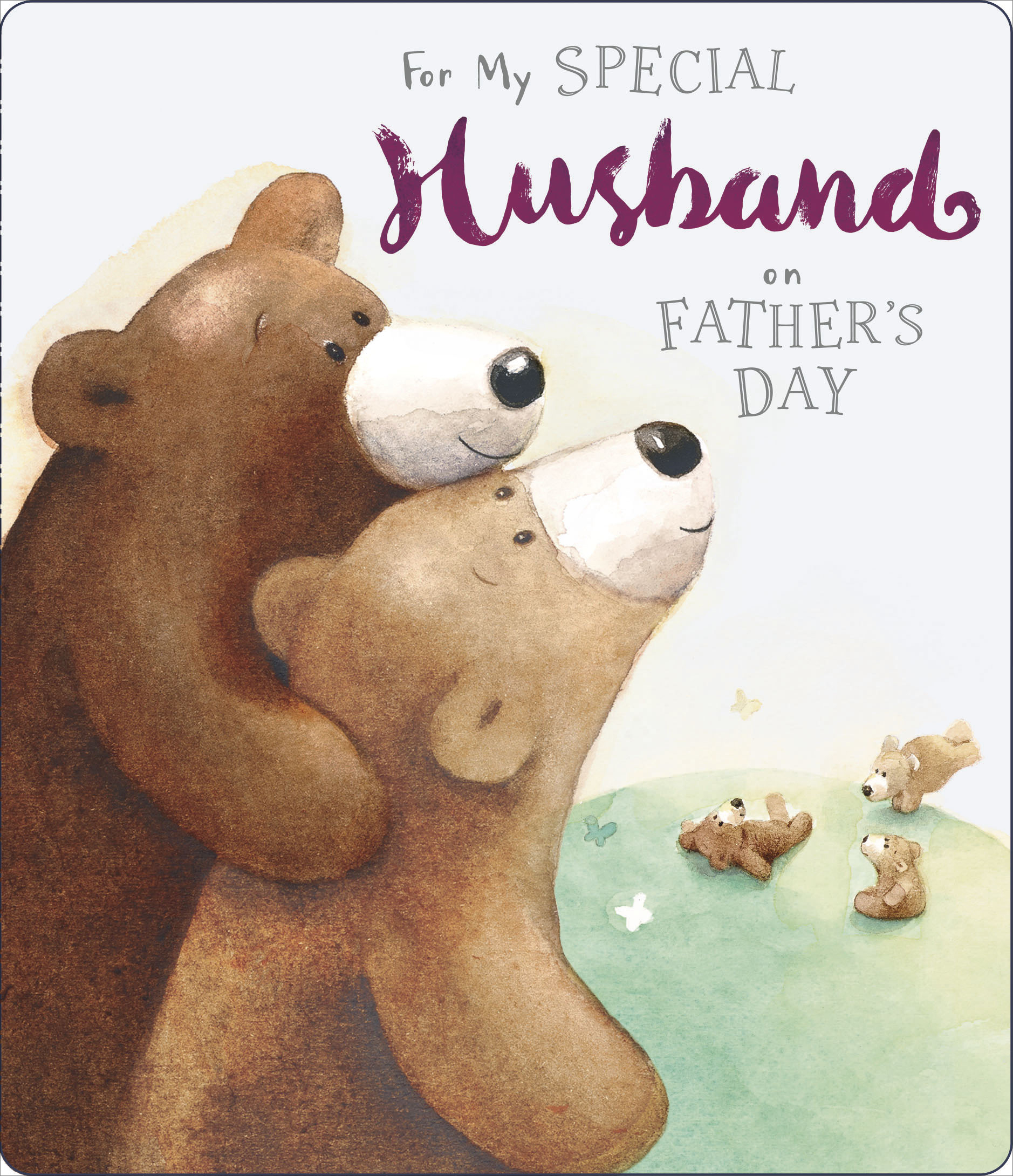 Special Husband Fathers Day Card Cute Albert Bear Range Greeting