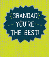 Grandad You're The Best Father's Day Card