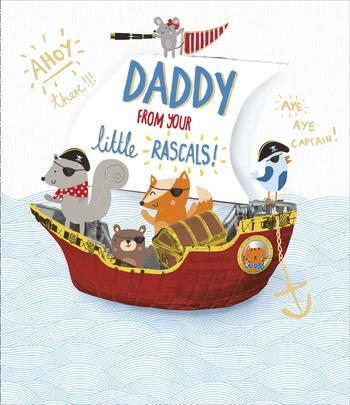 Daddy From Your Little Rascals Father's Day Card
