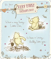 On Your First Father's Day Winnie The Pooh Card