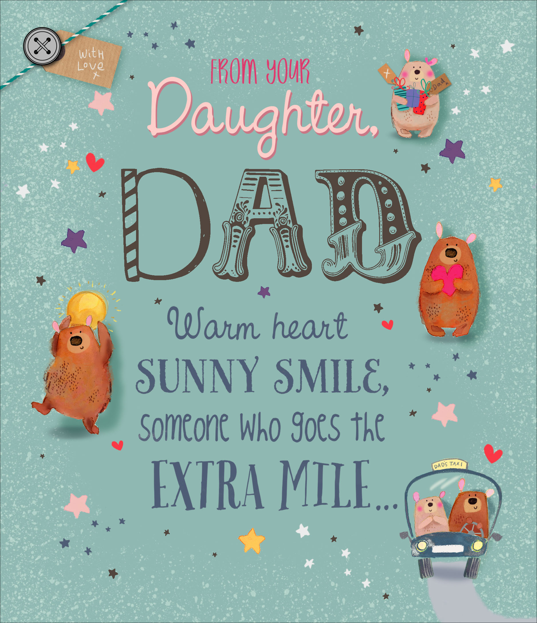 to dad from daughter father u0026 39 s day card