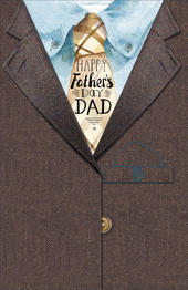 Happy Father's Day Dad Card Suit Jacket Shaped