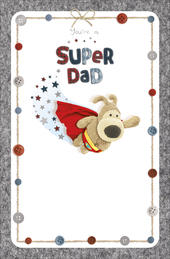 Boofle Cute Super Dad Happy Father's Day Card