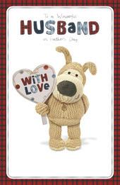 Boofle Wonderful Husband Happy Father's Day Card