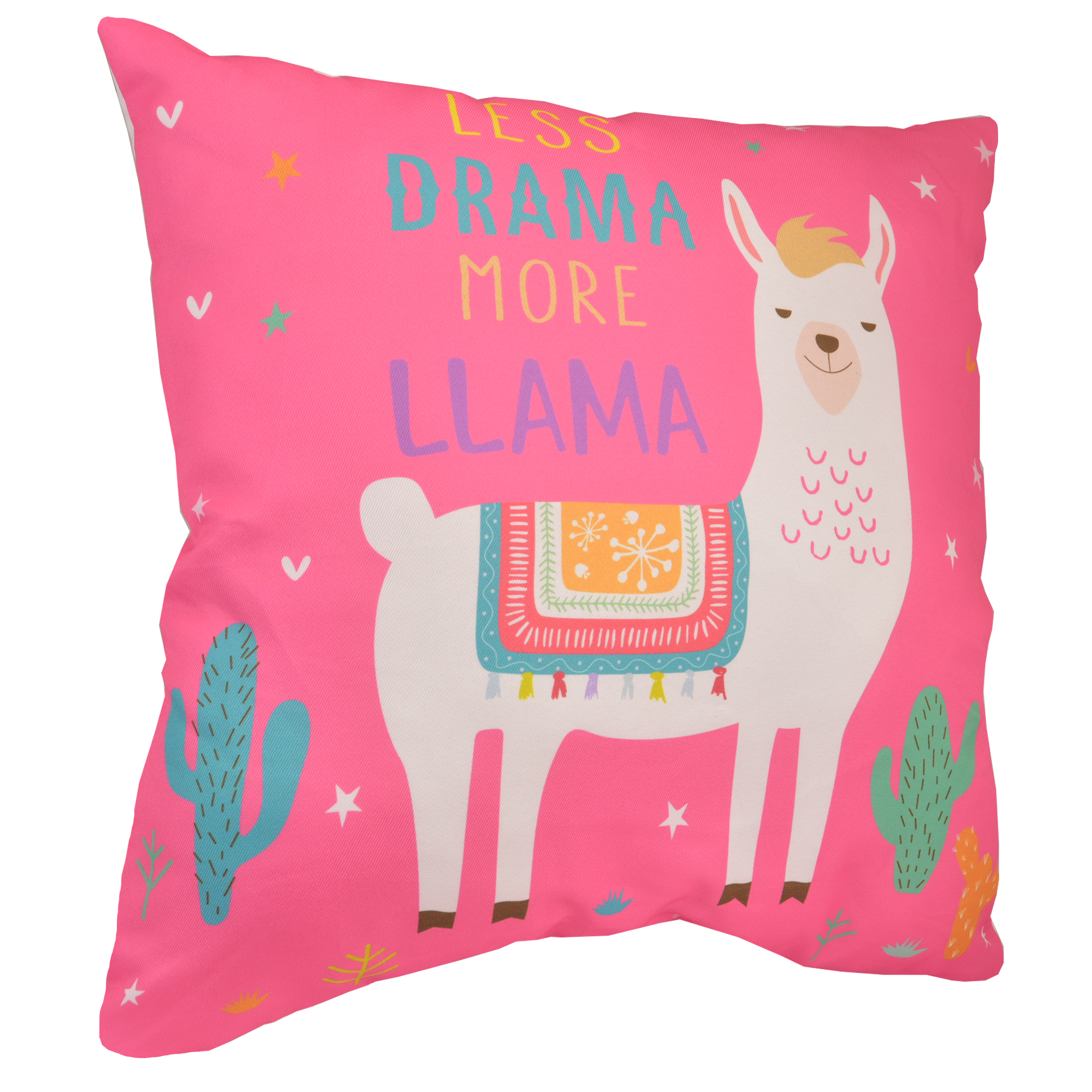 Less Drama More Llama Pink Cushion | Gifts | Love Kates
