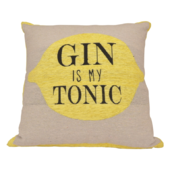 Gin Is My Tonic Cushion Square 40cm x 40cm