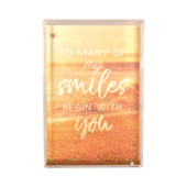 My Smiles Begin With You Freestanding Glitter Photo Frame