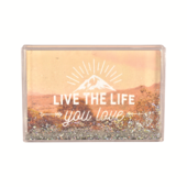 Live The Life You Love Freestanding Glitter Photo Frame