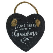 I Love That You're My Grandma Mini Heart Shaped Hanging Slate