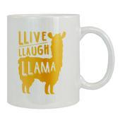 LLive LLaugh LLama Ceramic Mug