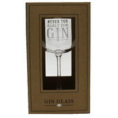 Never Too Early For Gin Large Gin Glass In Gift Box