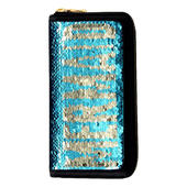 Sequin Mermaid Zip Around Purse