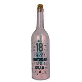Happy 18th Birthday Iridescent Light Up Bottle