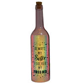Always My Sister Forever My Friend Iridescent Light Up Bottle