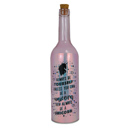 Be Yourself Or Be A Unicorn Iridescent Light Up Bottle