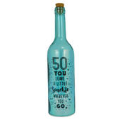 Happy 50th Birthday Iridescent Light Up Bottle