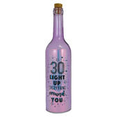 Happy 30th Birthday Iridescent Light Up Bottle