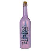 Happy 30th Birthday Iridescent Light Up Bottle