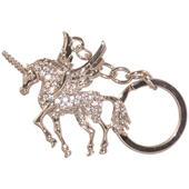Diamante Sparkly Unicorn Keyring