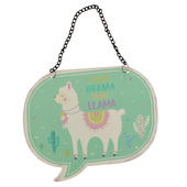 Less Drama More Llama Metal Hanging Plaque