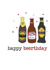Happy Beerthday Sparkle Finished Birthday Greeting Card
