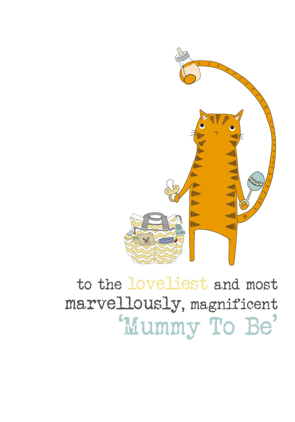 Mummy To Be Sparkle Finished Greeting Card