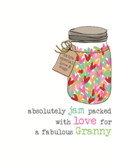Fabulous Granny Sparkle Finished Greeting Card