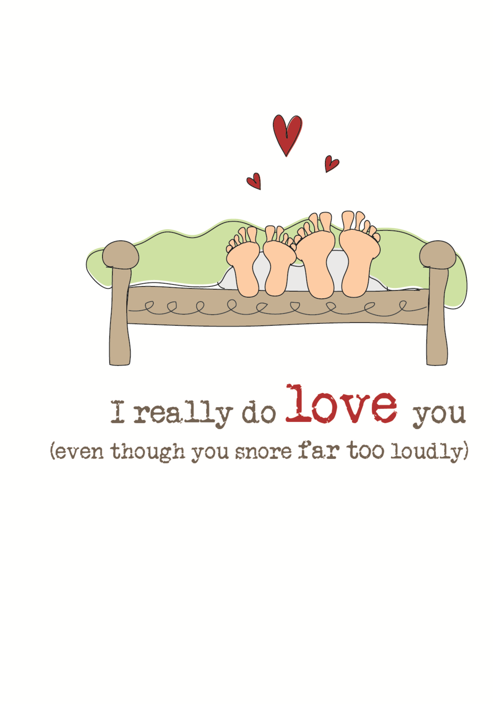 I Love You Sparkle Finished Greeting Card