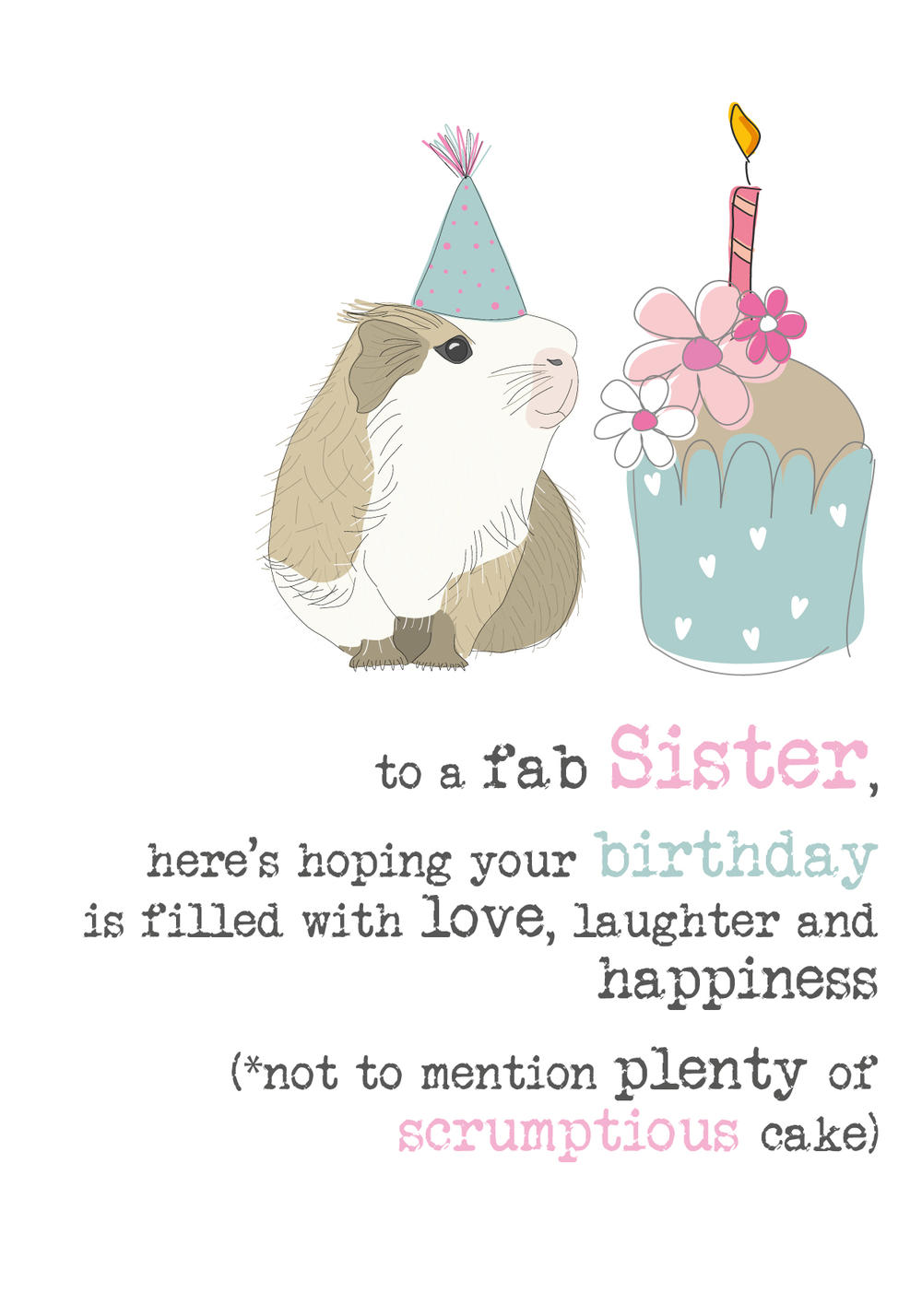 Sister Birthday Sparkle Finished Greeting Card