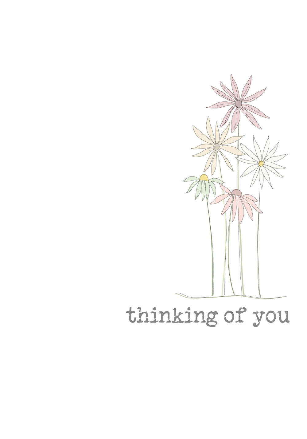 Thinking Of You Sparkle Finished Greeting Card