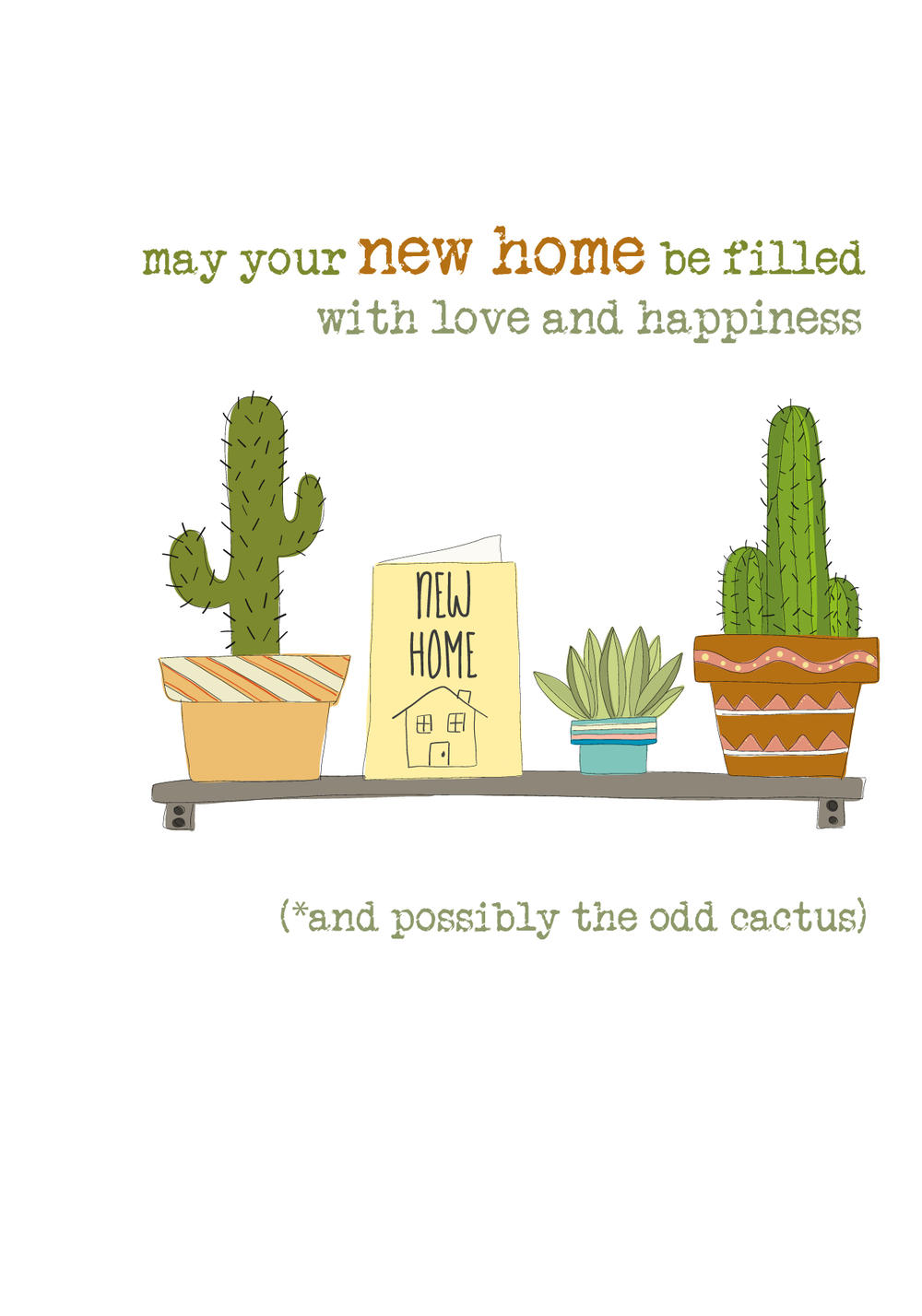 New Home Sparkle Finished Greeting Card