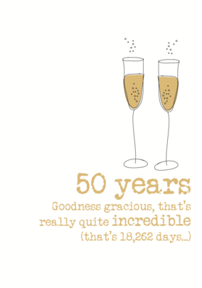 50th Anniversary Sparkle Finished Greeting Card