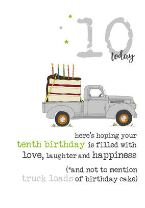 10th Birthday Sparkle Finished Greeting Card