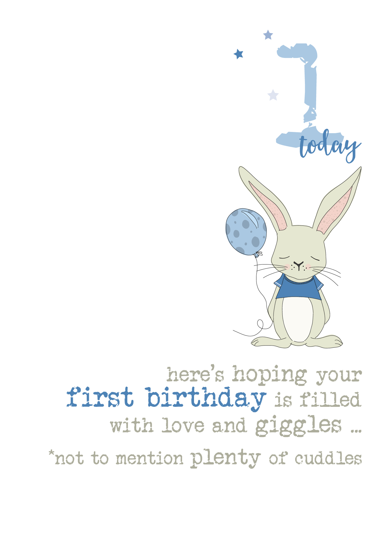 8st Birthday Boy Card - Card Design Template