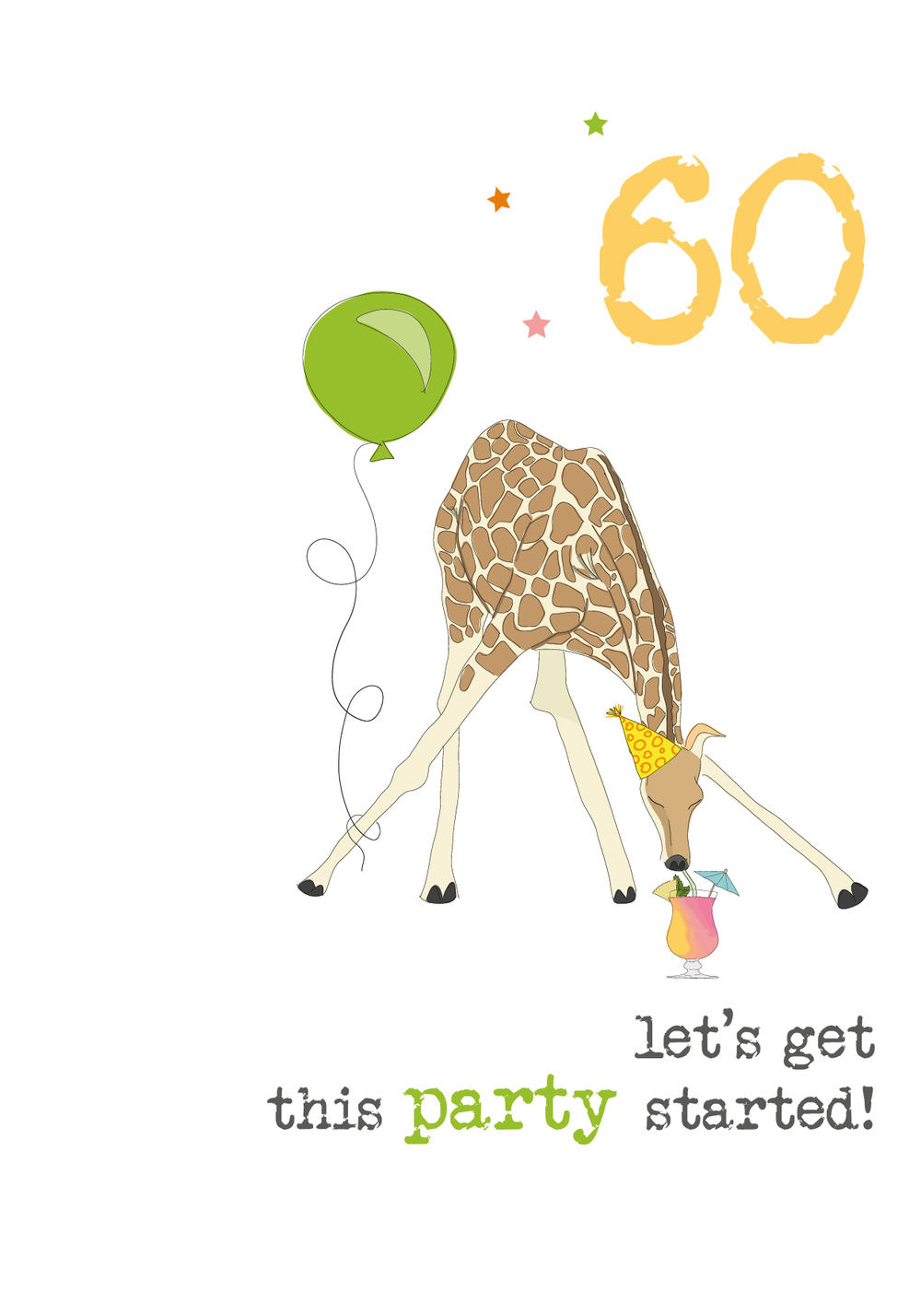 60th Birthday Sparkle Finished Greeting Card
