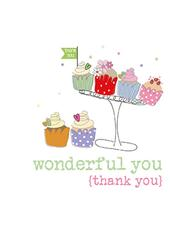Thank You Sparkle Finished Greeting Card