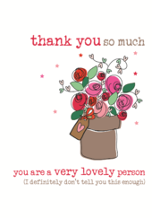 Thank You So Much Sparkle Finished Greeting Card