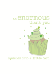 Enormous Thank You Sparkle Finished Greeting Card