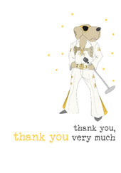 Thank You Very Much Sparkle Finished Greeting Card