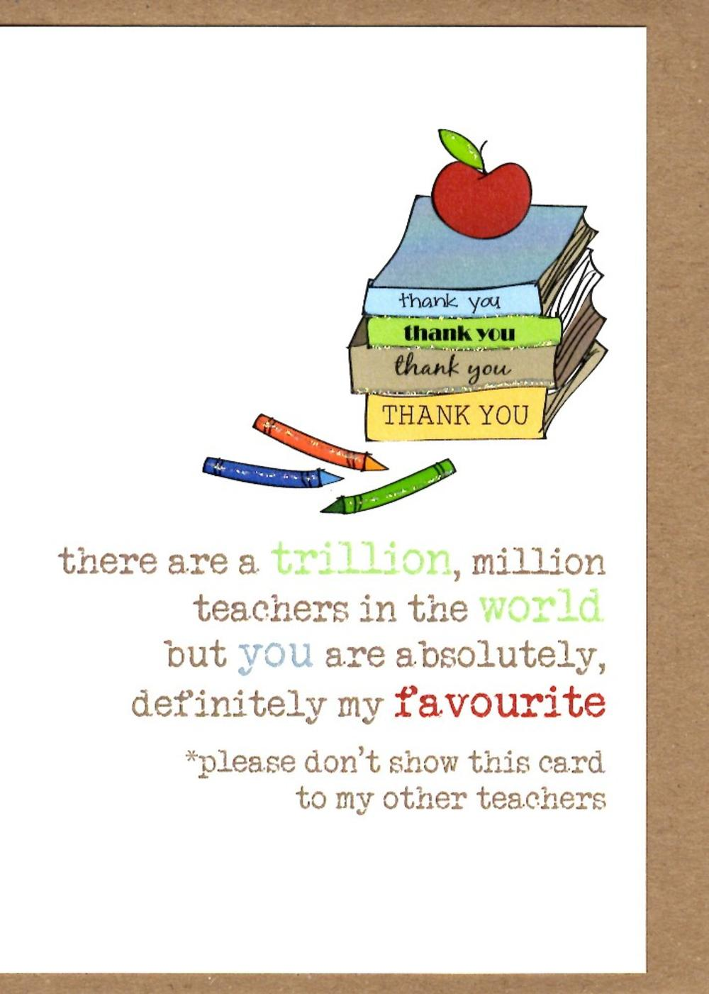 teacher thank you sparkle finished greeting card  cards