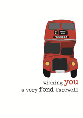 Leaving Farewell Sparkle Finished Greeting Card