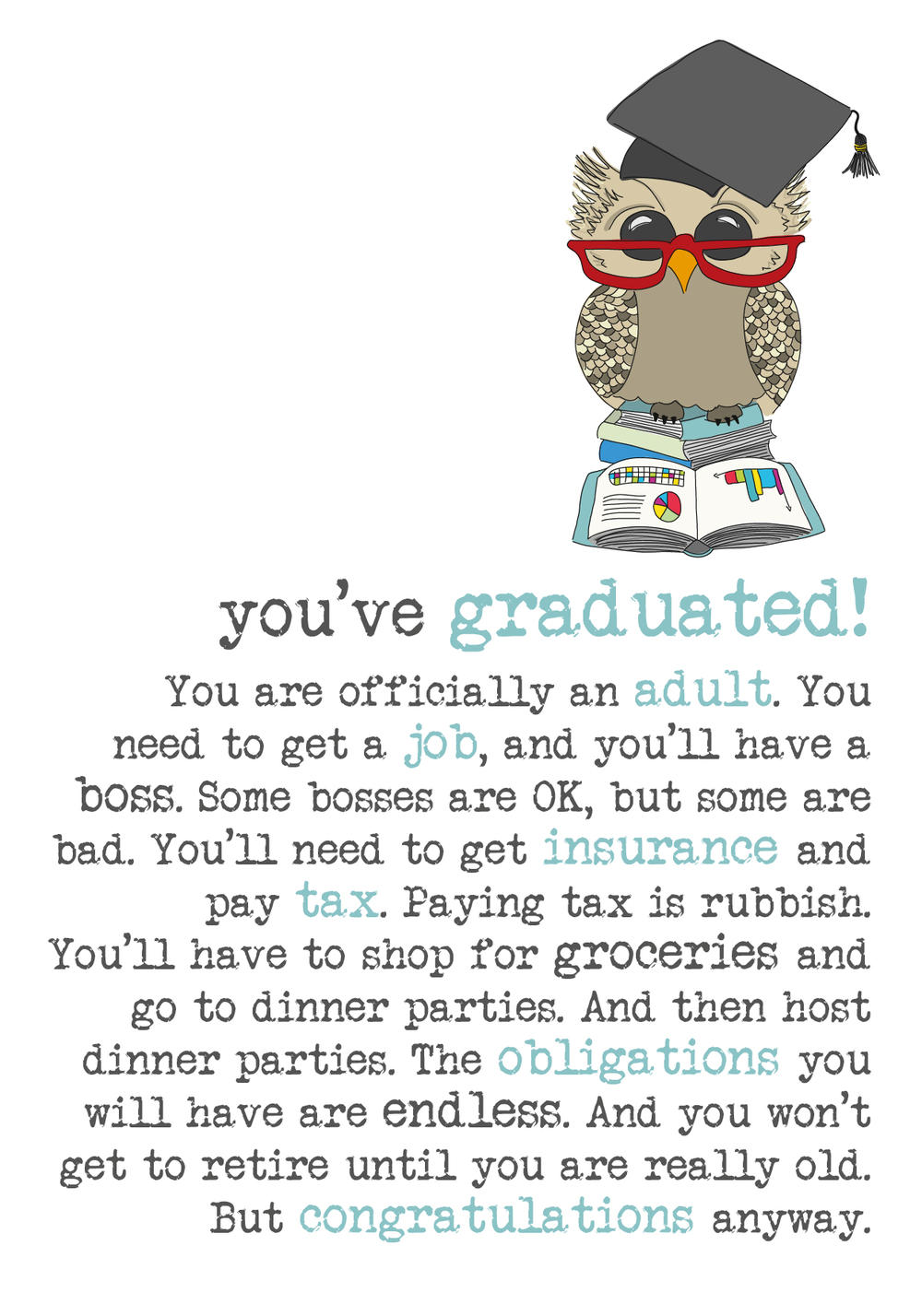 You've Graduated Sparkle Finished Greeting Card