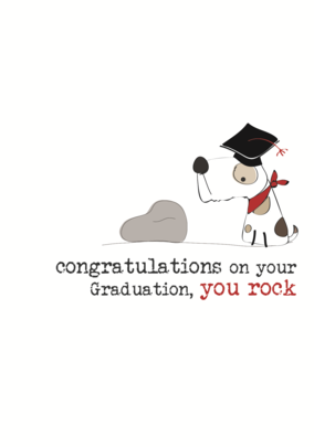 Graduation You Rock Sparkle Finished Greeting Card