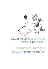 Exam Congratulations Sparkle Finished Greeting Card