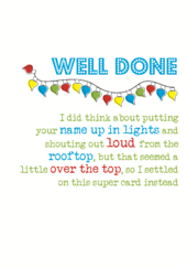 Well Done Sparkle Finished Greeting Card