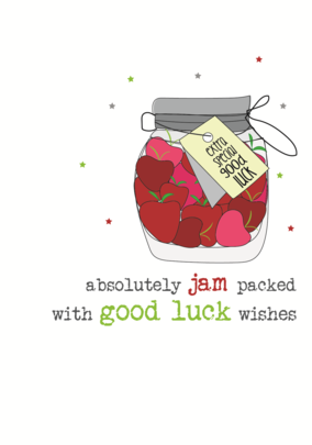 Good Luck Sparkle Finished Greeting Card