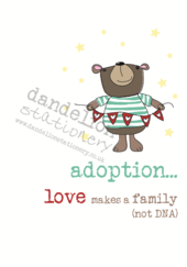 Adoption Sparkle Finished Greeting Card